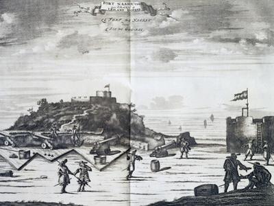 Nassau Fort on Goree Island, Senegal, Port of Call of Dutch West India Company by Pieter Van Der Aa