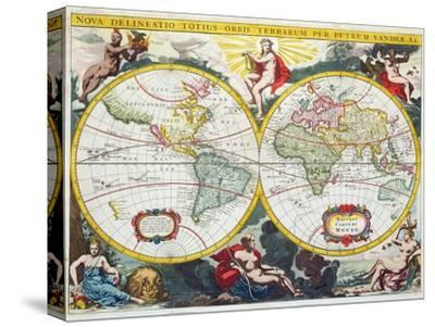World Map, Early 18th Century by Pieter Van Der Aa