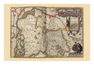 Duchy of Brabant by Pieter Van der Keere