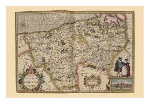 Flanders, Belgium Map by Pieter Van der Keere