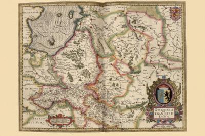 Map - Geldria et Transysulana by Pieter Van der Keere