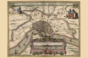 Map of Antwerp, Belgium by Pieter Van der Keere