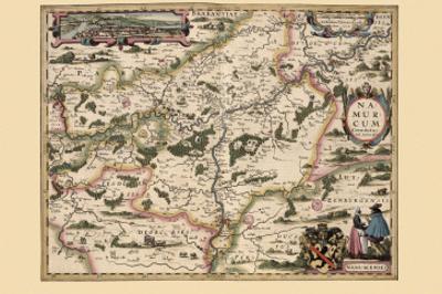 Map of Belgium & Namur by Pieter Van der Keere