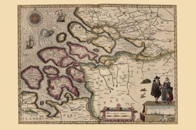 Map of Holland by Pieter Van der Keere