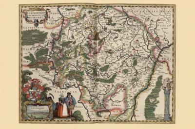 Map of Luxembourg by Pieter Van der Keere