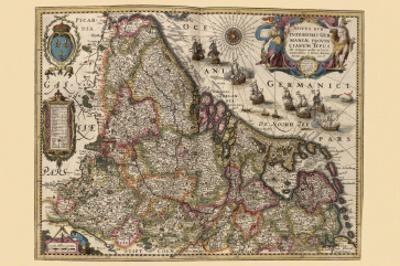 Map of Picardy, France by Pieter Van der Keere