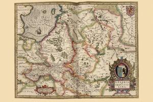 Map of Transylvania, Roumania by Pieter Van der Keere