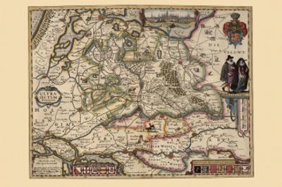 The Area Around Utrecht by Pieter Van der Keere