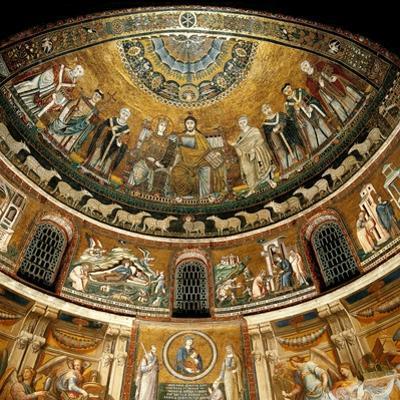 Mosaics by Pietro Cavallini, c. 1291, in Santa Maria in Trastevere Church, Rome, Italy