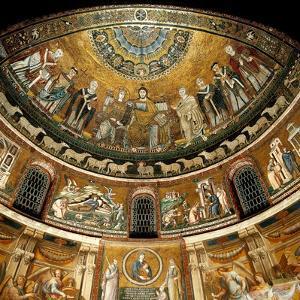 Mosaics by Pietro Cavallini, c. 1291, in Santa Maria in Trastevere Church, Rome, Italy by Pietro Cavallini