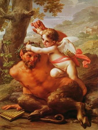 Cupid and Pan by Pietro Da Cortona