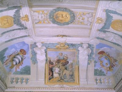 Frescoes in Gallery at Villa Chigi, Rome by Pietro da Cortona