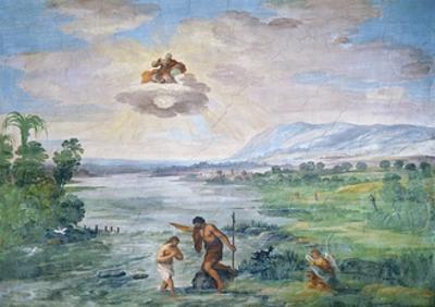 The Baptism of Christ, 1621-1630 by Pietro da Cortona