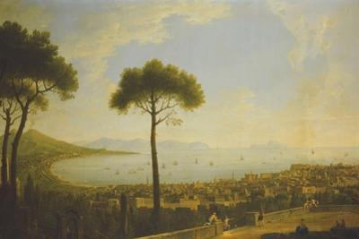 A Panoramic View of Naples, the Bay of Naples, Portici, Vesuvius, the Sorrento Peninsula and…