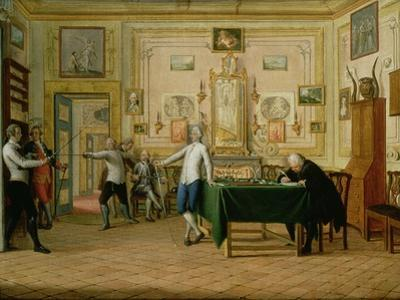 Fencing Scene at the Neopolitan Residence of Kenneth Mackenzie (1744-81) 1st Earl of Seaforth, 1771