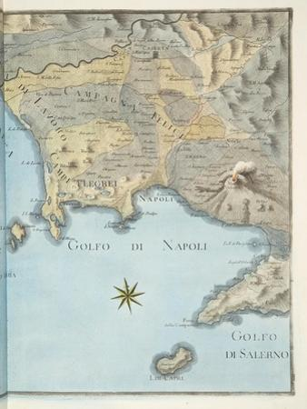 Map of the Gulf of Naples and Surrounding Area from 'Campi Phlegraei: Observations on the Volcanoes