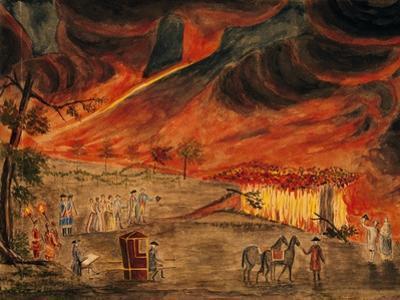 The Sicilian Royals Visiting Vesuvius During Eruption of 11 May 1771
