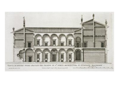 Palazzo di Santo Spirito, from 'Palazzi di Roma', part II, published c.1670s