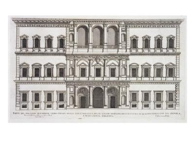 Palazzo Farnese, from 'Palazzi Di Roma', Part I, Published 1655