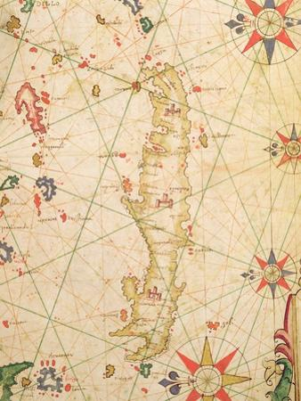 The Island of Crete, from a Nautical Atlas, 1651 (Detail)
