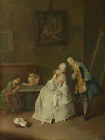 A Lady Receiving a Cavalier, 1747-1755