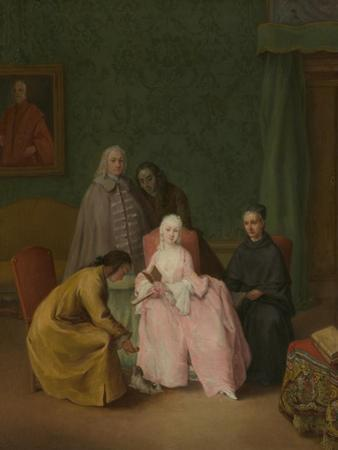 The Visit, 1746 by Pietro Longhi