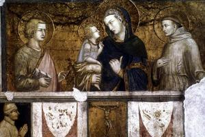 Madonna and Child Between St Francis and St John the Evangelist, C1320S by Pietro Lorenzetti