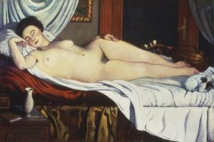 Sleeping Venus, (Naked Woman on a Bed) Woman by Pietro Marussig