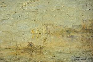View of the Lagoon in Venice by Pietro Marussig