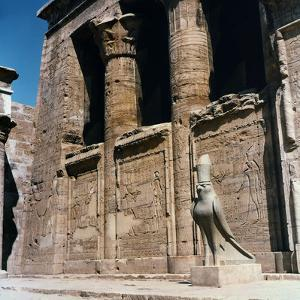 Detail of the Interior Courtyard of the Temple of Hathor at Dendera, Upper Egypt by Pietro Ronchetti