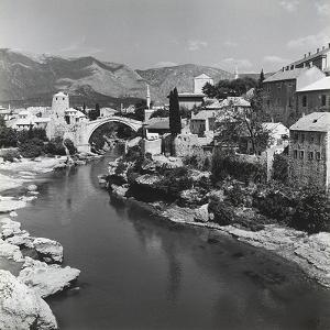 The City of Mostar with the Stari Most (Old Bridge), Bosnia Herzegovina by Pietro Ronchetti