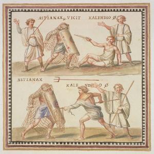 Ms Gen 1496 Plate Cxxiv Gladiators, 1674 by Pietro Santi Bartoli