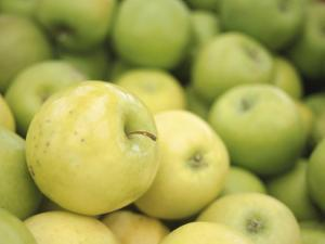 Pile of Fresh and Delicious Green Apples