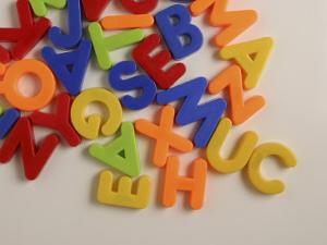 Pile of Multicolored Alphabet Magnets