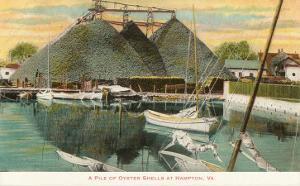 Pile of Oyster Shells, Hampton, Virginia