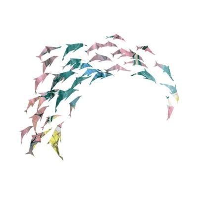 Watercolor Silhouette of the Dolphin. by pilipa