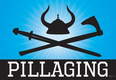 Pillaging Blue Poster Print