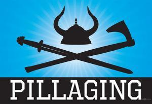 Pillaging Blue Poster Print