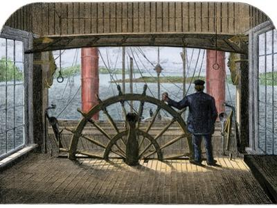 "Pilot House of Mississippi Riverboat ""Great Republic,"" 1870s"