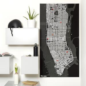 PinCity Wall Map Diary - New York