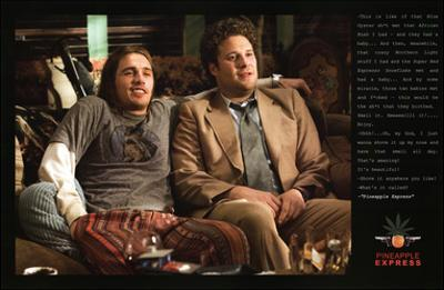 Pineapple Express Movie Quotes Poster Print