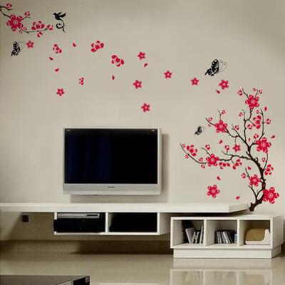 Pink Blossom Flower Wall