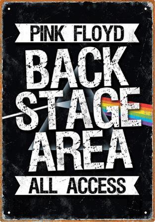 Pink Floyd Backstage Tin Sign