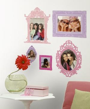 Pink & Purple Frames Peel & Stick Giant Wall Decal