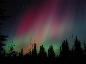 D. Aurora Borealis Alaska Red Skies Northern Lights Copper Center Alaska by pinky