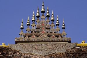 Pinnacles on Roof of Wat That Luang