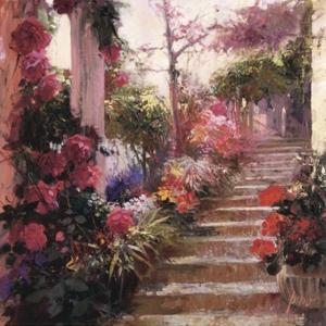Rose Garden Steps by Pino Daeni