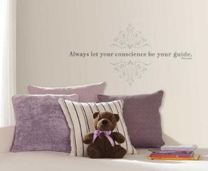 Pinocchio Always Let Your Conscience Be Your Guide Peel and Stick Wall Decals