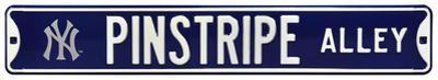 Pinstripe Alley with NY Logo Steel Sign