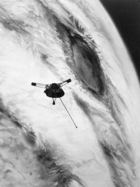Pioneer Passing over Jupiter's Red Spot